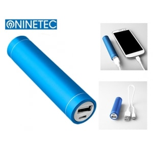 NINETEC POWER BANK 5V (2.600 MAH) ΜΠΛΕ NT-003