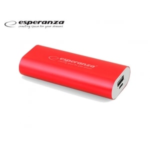 ESPERANZA POWER BANK 5V (4.400 MAH) EMP-105R ΚΟΚΚΙΝΟ