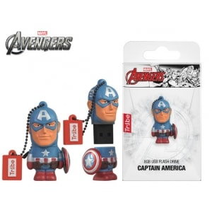 TRIBE FLASH DRIVE USB 3D CAPTAIN AMERICA 8GB