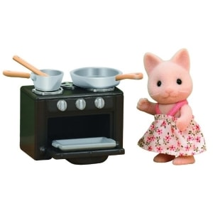 SYLVANIAN FAMILIES: CAT SISTER WITH OVEN SET (5140)