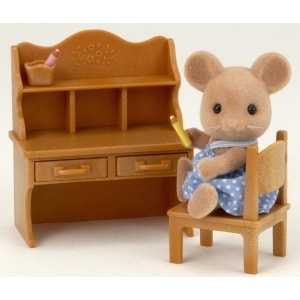 SYLVANIAN FAMILIES: MOUSE SISTER WITH DESK SET (5142)