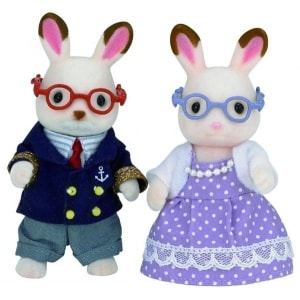 SYLVANIAN FAMILIES: CHOCOLATE RABBIT GRAND PARENTS (5190)