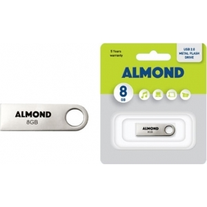 ALMOND FLASH DRIVE USB 8GB ΜΕΤΑΛΛΙΚΟ MINI