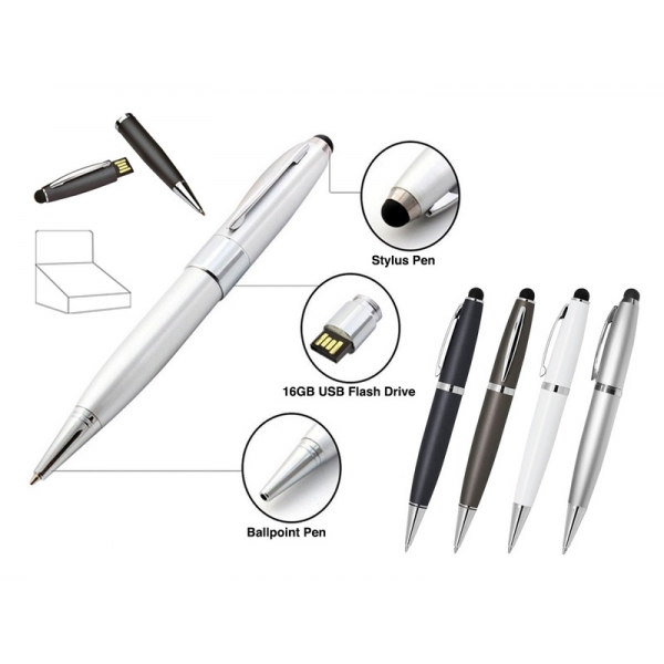 ΣΤΥΛΟ USB 16GB PEN & STYLUS PEN  i-TOTAL